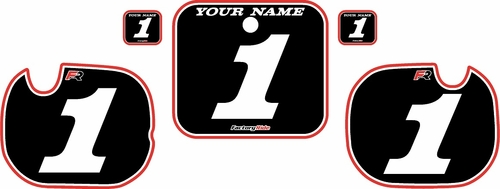 1984 Honda CR250 Pre-Printed Backgrounds Black - Red Pro Pinstripe by FactoryRide