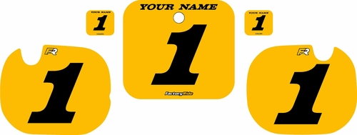1984 Honda CR250 Pre-Printed Backgrounds Yellow - Black Numbers by FactoryRide