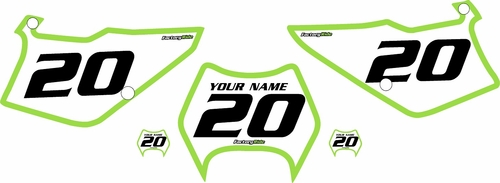 1997-2005 Kawasaki KDX220 Pre-Printed Backgrounds White - Green Bold Pinstripe by FactoryRide