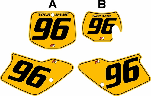 1996-2001 GAS GAS EC250 Custom Pre-Printed Background Yellow - Black Pinstripe by Factory Ride