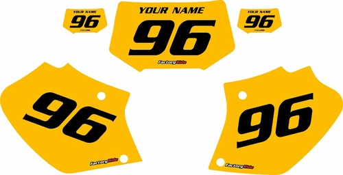 Honda XR400 1996-2004 Pre-Printed Backgrounds Yellow - Black Numbers by FactoryRide