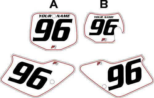 1996-2001 GAS GAS EC250 Custom Pre-Printed Background White - Red Pinstripe by Factory Ride
