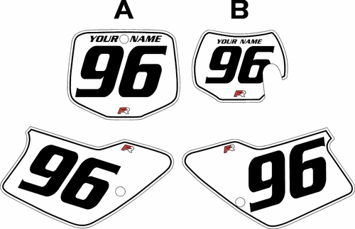 1996-2001 GAS GAS EC250 Custom Pre-Printed Background White - Black Pinstripe by Factory Ride