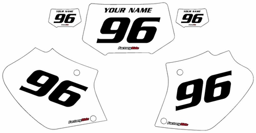 1996-2004 Honda XR400 White Pre-Printed Background - Black Numbers by Factory Ride
