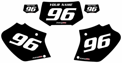 1996-2004 Honda XR400 Black Pre-Printed Background - White Numbers by Factory Ride