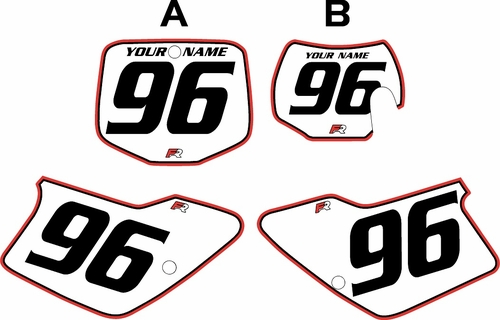 1996-2001 GAS GAS EC250 Pre-Printed Backgrounds White - Red Pro Pinstripe by FactoryRide