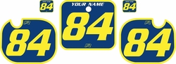 Fits Honda CR500 1984 Blue Pre-Printed Backgrounds - Yellow Bold Pinstripe by FactoryRide