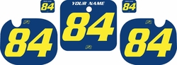 Fits Honda CR500 1984 Blue Pre-Printed Backgrounds - Yellow Numbers by FactoryRide