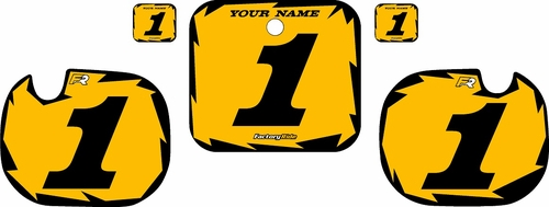 1984 Honda CR500 Custom Pre-Printed Background Yellow - Black Shock Series by Factory Ride