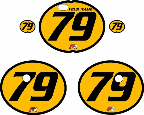 1979-1980 Suzuki RM125 Yellow Pre-Printed Backgrounds - Black Bold Pinstripe by FactoryRide