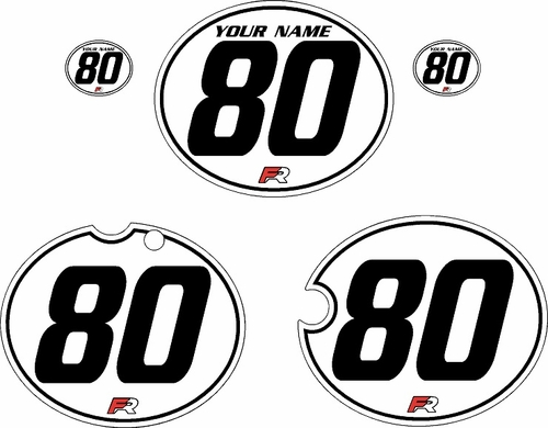 1980-1981 Yamaha YZ250 Custom Pre-Printed White Background - Black Pinstripe by Factory Ride