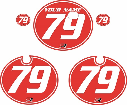 1979 Kawasaki KX250 Red Pre-Printed Backgrounds - White Pinstripe by FactoryRide