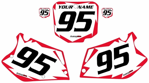 1995-1997 Honda CR125 Pre-Printed Backgrounds White - Red Shock Series by FactoryRide