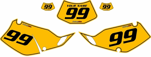 1994-1996 Kawasaki KLX250 Yellow Pre-Printed Backgrounds - Black Pinstripe by FactoryRide