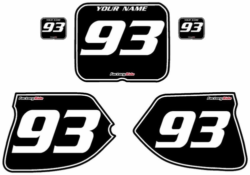 1993-1995-Suzuki-RM125 Custom Black Pre-Printed Background - White Pinstripe by Factory Ride