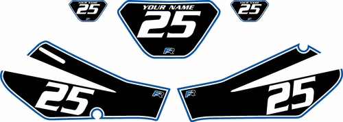 006-2009 Yamaha TTR250 Black Pre-Printed Backgrounds - Blue Pro Pinstripe by FactoryRide