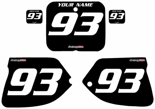 1993-1995-Suzuki-RM125 Custom Black Pre-Printed Background - White Numbers by Factory Ride