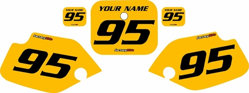 1990-1995 Honda CR80 Pre-Printed Backgrounds Yellow - Black Numbers by FactoryRide