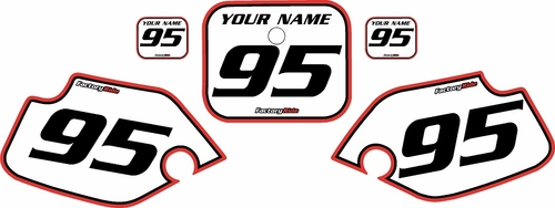 1990-1995 Honda CR80 Pre-Printed Backgrounds White - Red Pro Pinstripe by FactoryRide