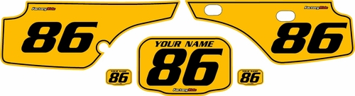 1986-1995 Honda XR250 Pre-Printed Backgrounds Yellow - Black Pinstripe by FactoryRide