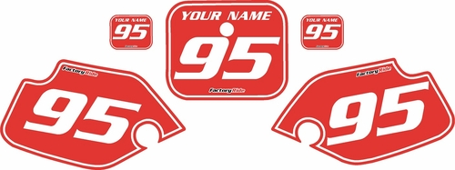 1990-1995 Honda CR80 Pre-Printed Backgrounds Red - White Pinstripe by FactoryRide