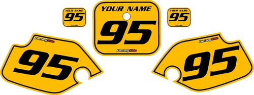 1990-1995 Honda CR80 Pre-Printed Backgrounds Yellow - Black Pinstripe by FactoryRide