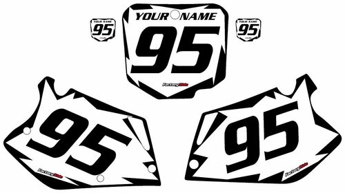 1995-1996 Honda CR250 Custom White Pre-Printed Background - Black Shock Series by Factory Ride
