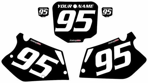 1995-1997 Honda CR125 Custom Black Pre-Printed Background - White Numbers by Factory Ride