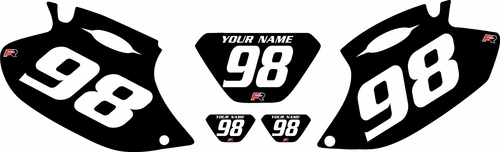 1998-2000 Yamaha WR400F Black Pre-Printed Background - White Numbers by Factory Ride