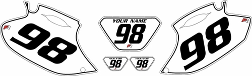 1998-2000 Yamaha WR400F White Pre-Printed Background - Black Pinstripe by Factory Ride