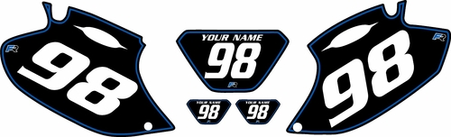 1998-2000 Yamaha WR400 Pre-Printed Backgrounds Black - Blue Pinstripe by FactoryRide