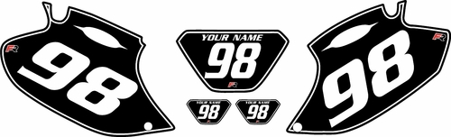 1998-2000 Yamaha WR400F Black Pre-Printed Background - White Pinstripe by Factory Ride