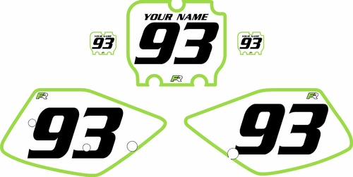 1992-1993 Kawasaki KX125 Pre-Printed Backgrounds White - Green Bold Pinstripe by FactoryRide
