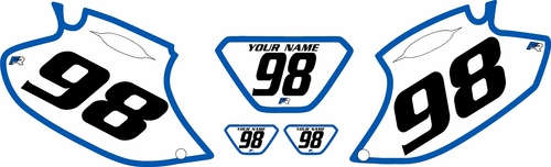 1998-2000 Yamaha WR400 Pre-Printed Backgrounds White - Blue Bold Pinstripe by FactoryRide