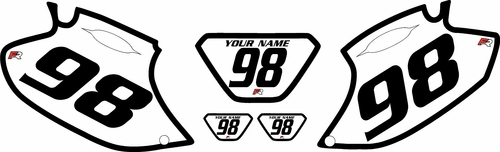 1998-2000 Yamaha WR400F White Pre-Printed Background - Black Bold Pinstripe by Factory Ride