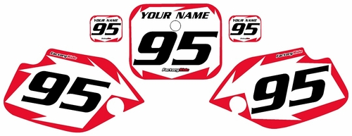 1990-1995 Honda CR80 White Pre-Printed Background - Red Shock Series by FactoryRide