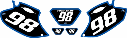 1998-2000 Yamaha WR400 Pre-Printed Backgrounds Black - Blue Bold Pinstripe by FactoryRide
