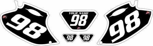 1998-2000 Yamaha WR400F Black Pre-Printed Background - White Bold Pinstripe by Factory Ride