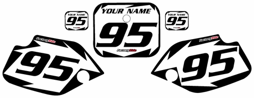 1990-1995 Honda CR80 White Pre-Printed Background - Black Shock Series by FactoryRide