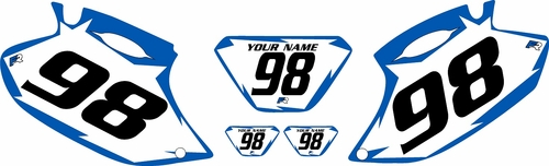 1998-2000 Yamaha WR400 Pre-Printed Backgrounds White - Blue Shock Series by FactoryRide