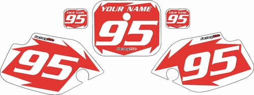 1990-1995 Honda CR80 Pre-Printed Backgrounds Red - White Shock Series by FactoryRide