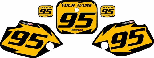 1990-1995 Honda CR80 Pre-Printed Backgrounds Yellow - Black Shock Series by FactoryRide