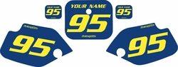 1990-1995 Honda CR80 Blue Pre-Printed Backgrounds - Yellow Numbers by FactoryRide