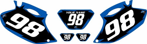 1998-2000 Yamaha WR400 Pre-Printed Backgrounds Black - Blue Shock Series by FactoryRide