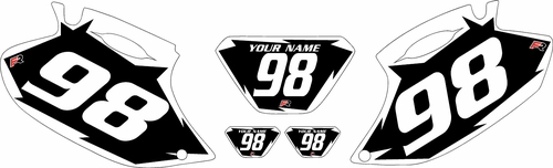 1998-2000 Yamaha WR400F Black Pre-Printed Background - White Shock Series by Factory Ride