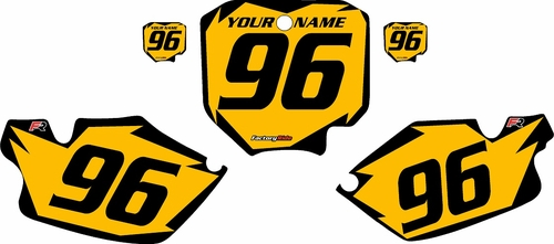 1996-2002 Honda CR80 Pre-Printed Backgrounds Yellow - Black Shock Series by FactoryRide