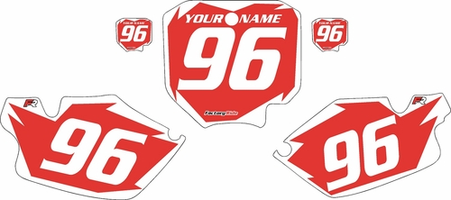 1996-2002 Honda CR80 Pre-Printed Backgrounds Red - White Shock Series by FactoryRide