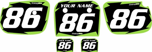 1986-2004 Kawasaki KX60 Pre-Printed Backgrounds Black - Green Shock Series by FactoryRide