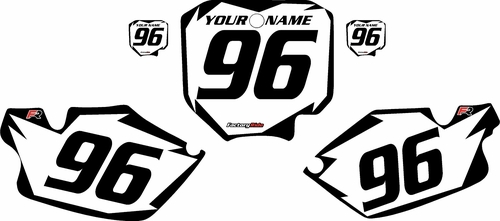 1996-2002 Honda CR80 White Pre-Printed Background - Black Shock Series by FactoryRide