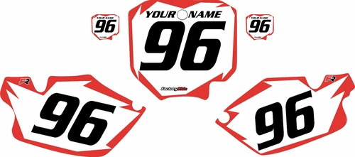 1996-2002 Honda CR80 White Pre-Printed Background - Red Shock Series by FactoryRide